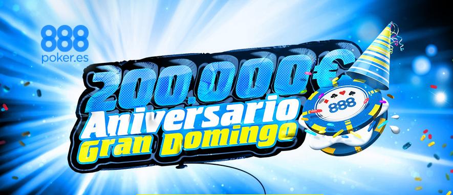 El Gran Domingo elevará su garantizado a 200.000€ para celebrar su 4.º aniversario 101