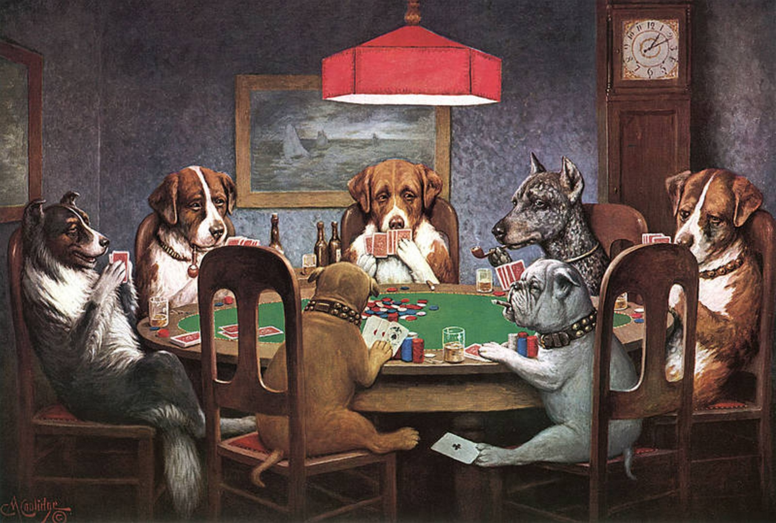 Poker & Pop Culture: Cassius M. Coolidge's Dogs Playing Poker 102