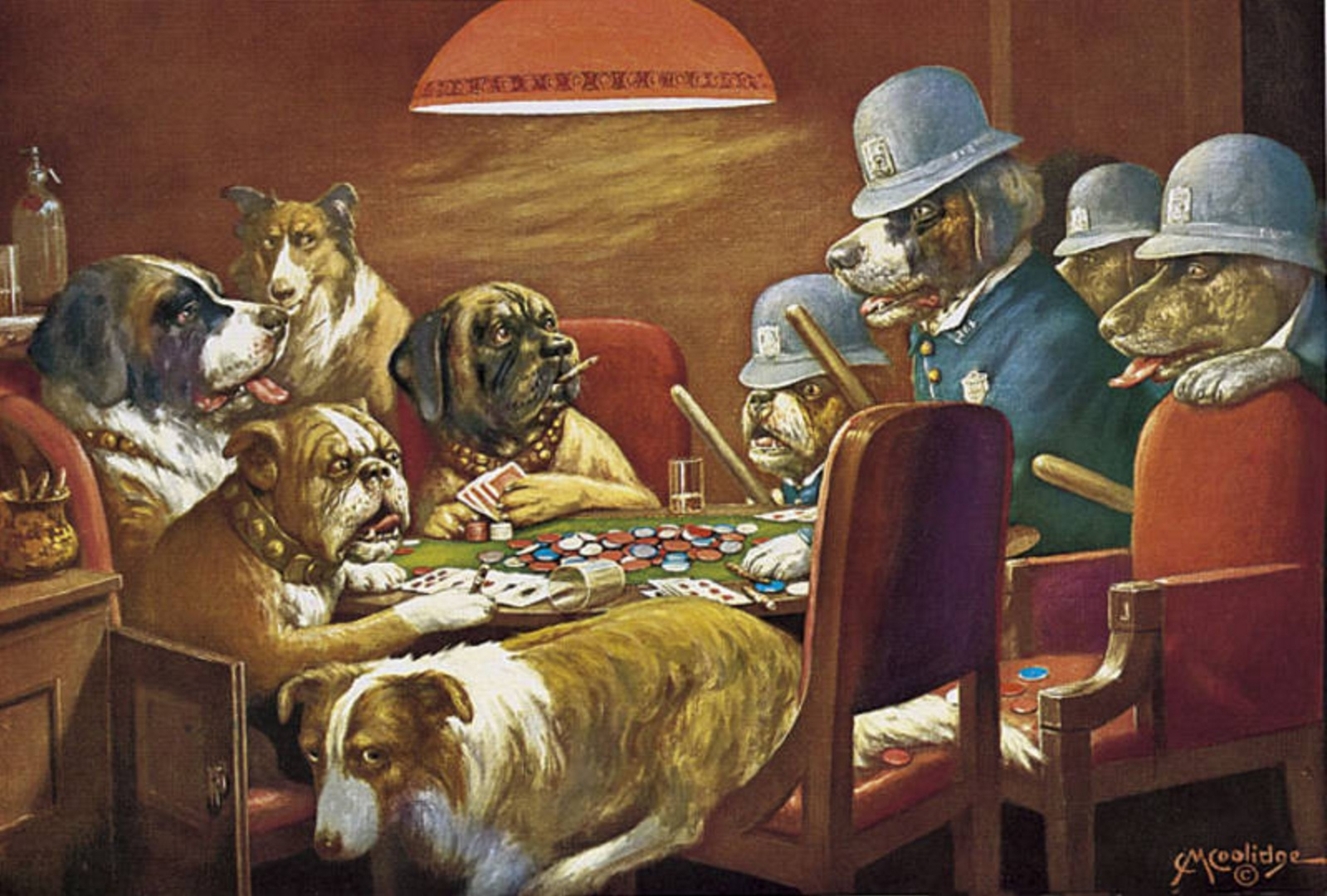 Poker & Pop Culture: Cassius M. Coolidge's Dogs Playing Poker 103