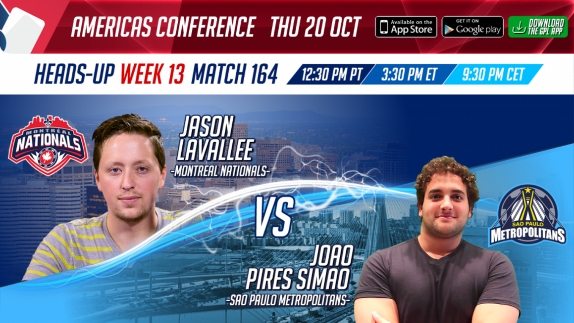 GPL Week 13 HU match Jason Lavallee vs Simao