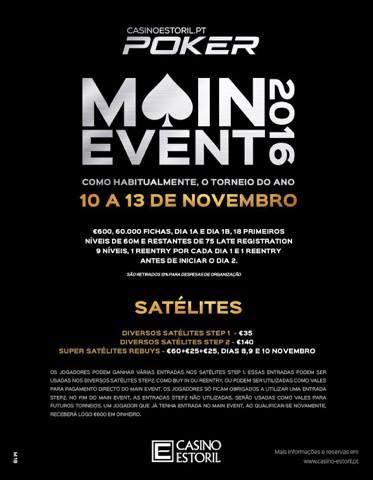 Calendário Main Event Casino Estoril 2016: 9 a 13 de Novembro 101