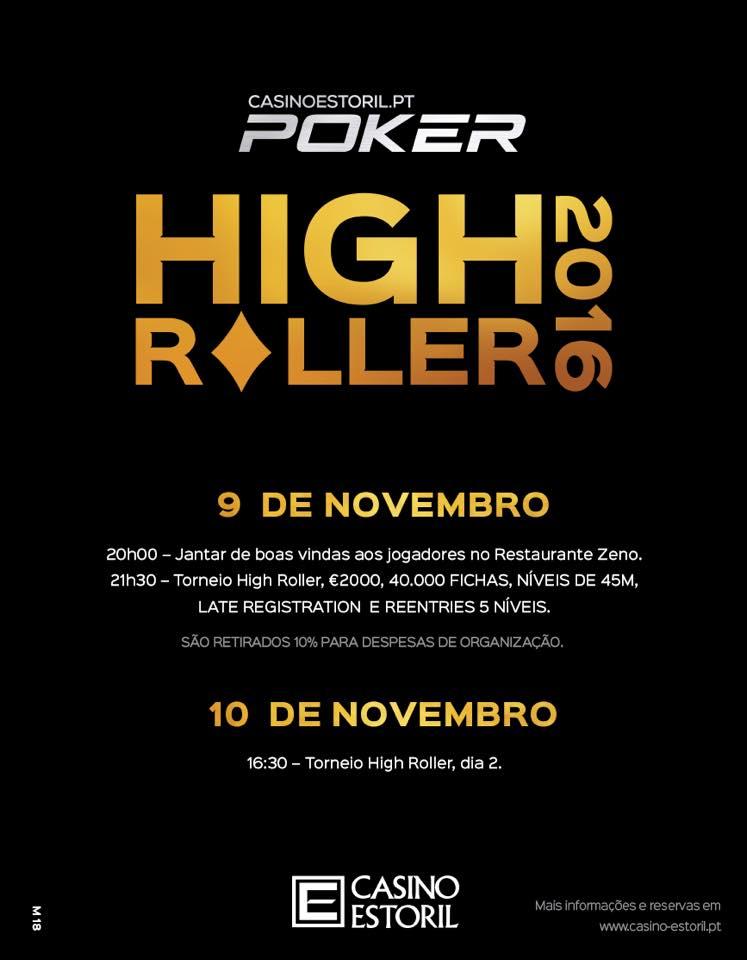 Main Event Casino Estoril Arranca Dia 8 Nov. com Super Satélite Rebuys 102