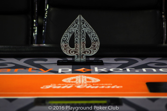 Playground Poker Fall Classic trophies