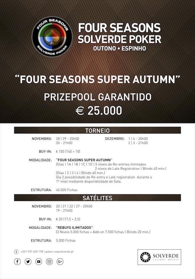 Calendário Four Season Super Autumn - €25.000 Garantidos 101