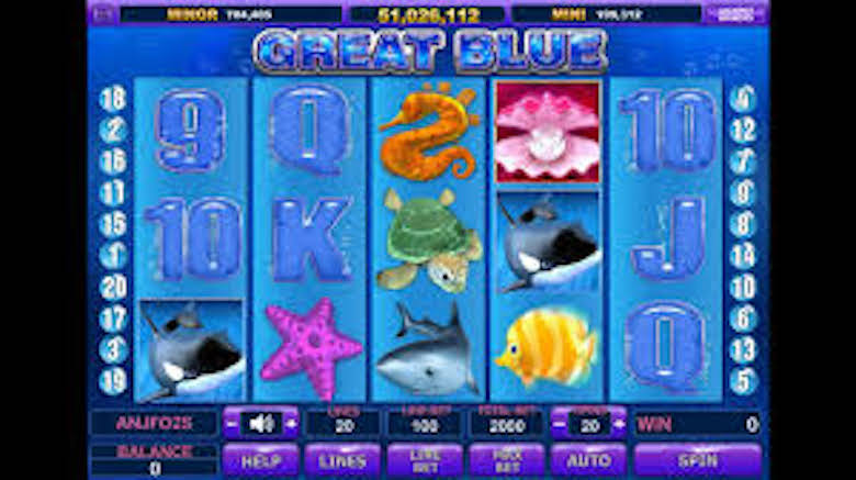 Great Blue Free Slots Game for Cash with No Credit Card