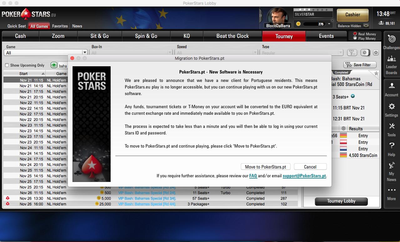 Abertura/Migração de Conta PokerStars.PT 101