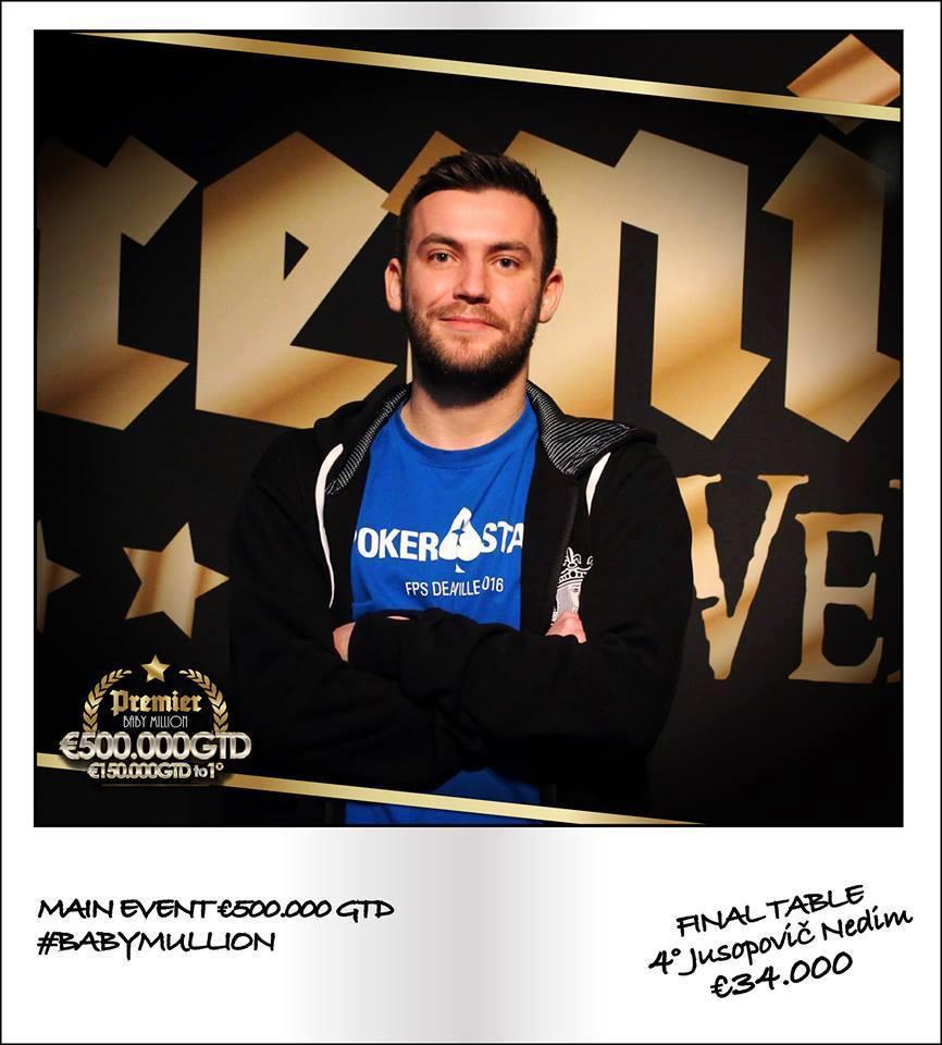Miroslav Opojevlić Osvojio Treće Mesto na Baby Million Main Eventu 102