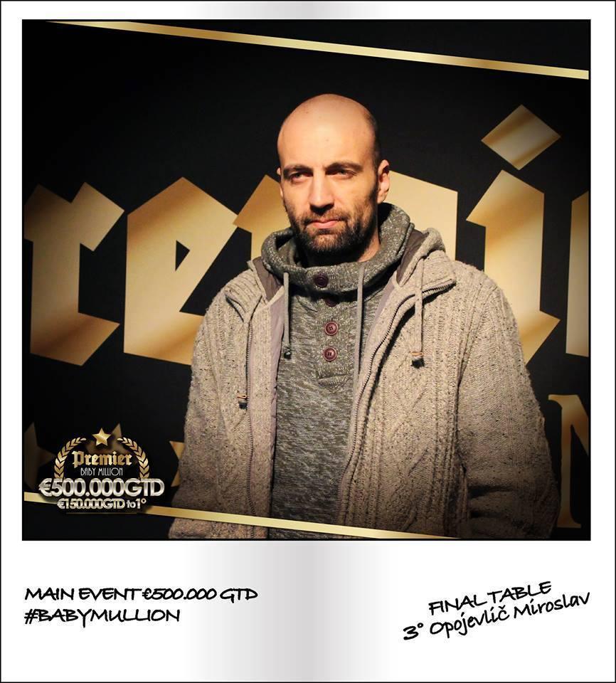 Miroslav Opojevlić Osvojio Treće Mesto na Baby Million Main Eventu 103