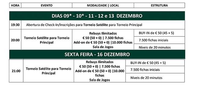 Calendário Satélites Main Event Solverde Poker Season 2016: 9 a 13 e 16 Dezembro 101