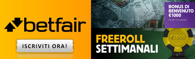 promozioni poker online Betfair