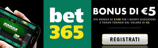 promozioni poker online Bet365