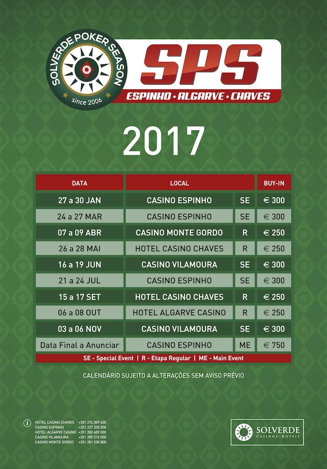Calendário Solverde Poker Season 2017 101