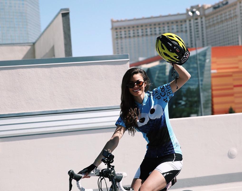 Samantha Abernathy Completes Bike Bet