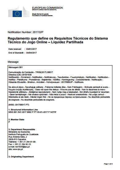 """SRIJ Enviou """"Regulamento da Liquidez Partilhada"""" para a Comissão Europeia 101"""