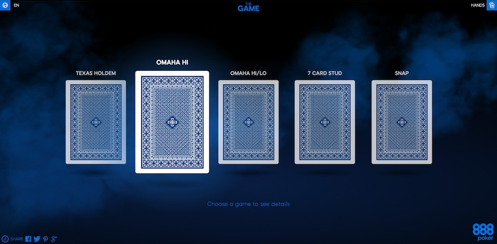 "Get Introduced to Poker by Playing ""The Game"" at 888poker 101"