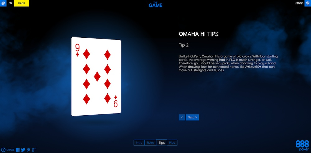"Get Introduced to Poker by Playing ""The Game"" at 888poker 103"
