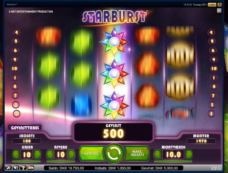 New online slots Starburst by NetEnt