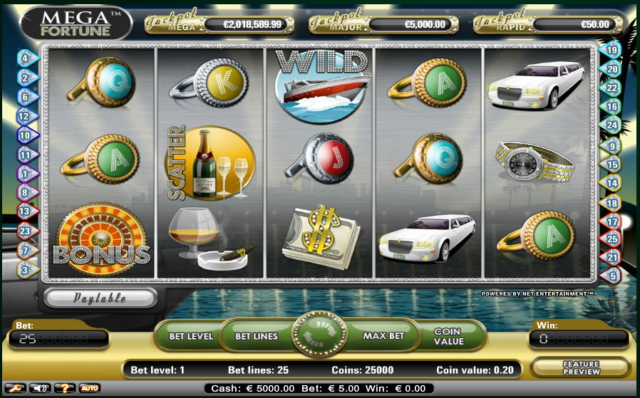 New slots games in 2017: Mega Fortune by NetEnt