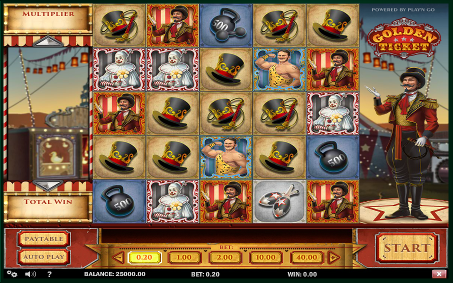 new on line slots at wunderino: Golden Ticket by Play N Go