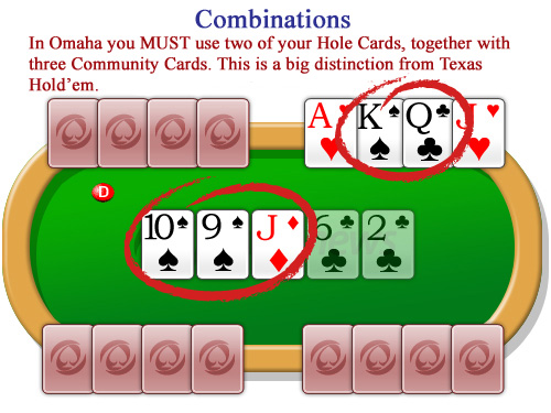 Four hole cards in Omaha