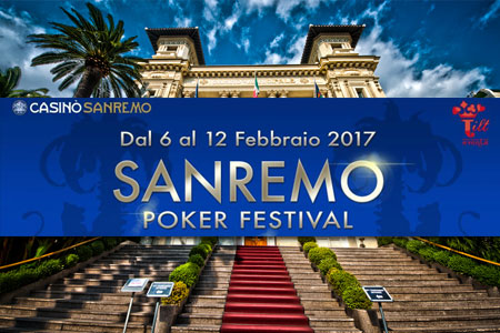 sanremo poker festival 2017 info dTE