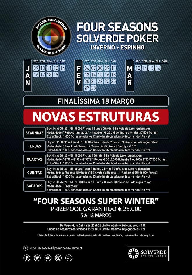 Four Seasons Solverde Poker: Chaves, Espinho e Monte Gordo Realizam Torneios Hoje (8 Fev.) 102