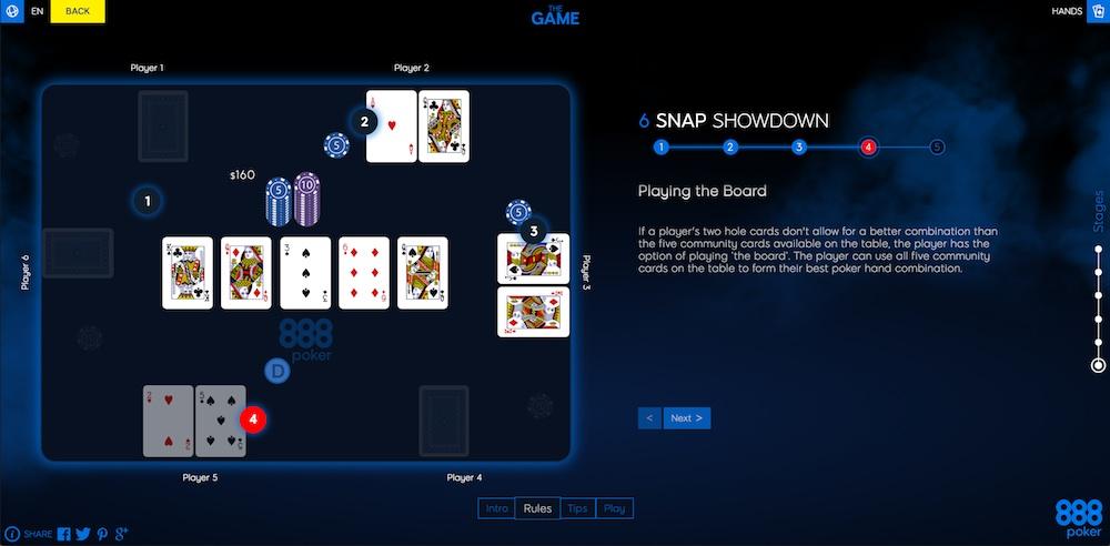 """Lernen Sie SNAP Poker und mehr mit 888Poker's """"The Game"""" 102"""
