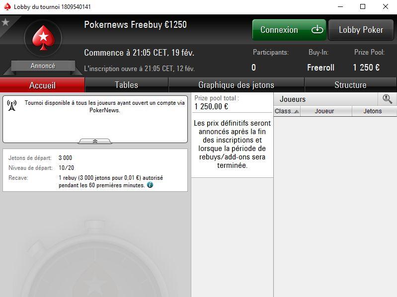 PokerStars : Jouez 1 cent et empochez votre part des 1250€ garantis 103