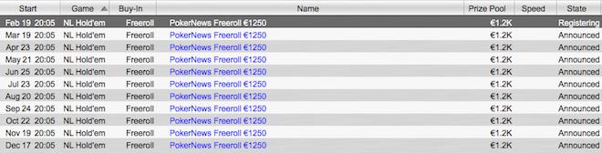 Exclusivo PokerNews Portugal: Freeroll Mensal de €1,250 Hoje às 20:05 PokerStars 101