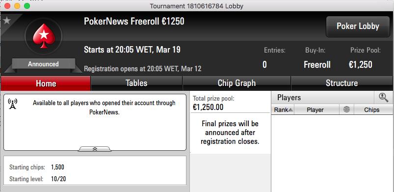 dec3x9 Vence Freeroll PokerNews €1,250 101