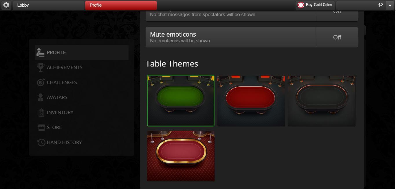 Global Poker Table Theme