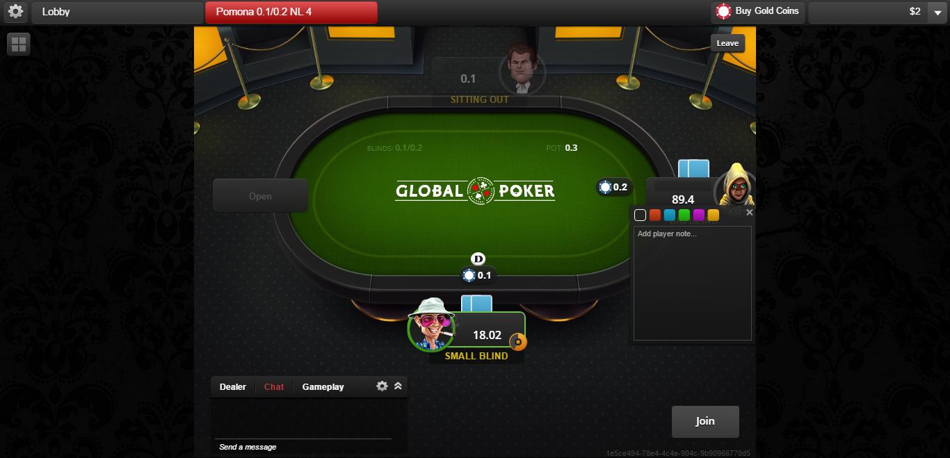 Global Poker Table Watch