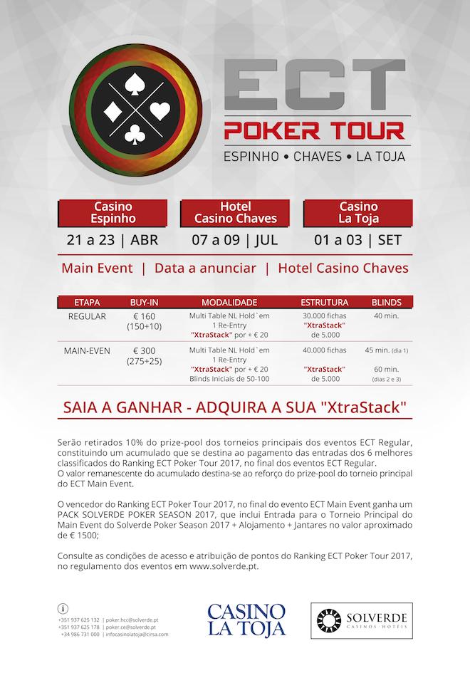 Calendário ECT Poker Tour 2017; Novidades no Ranking 102