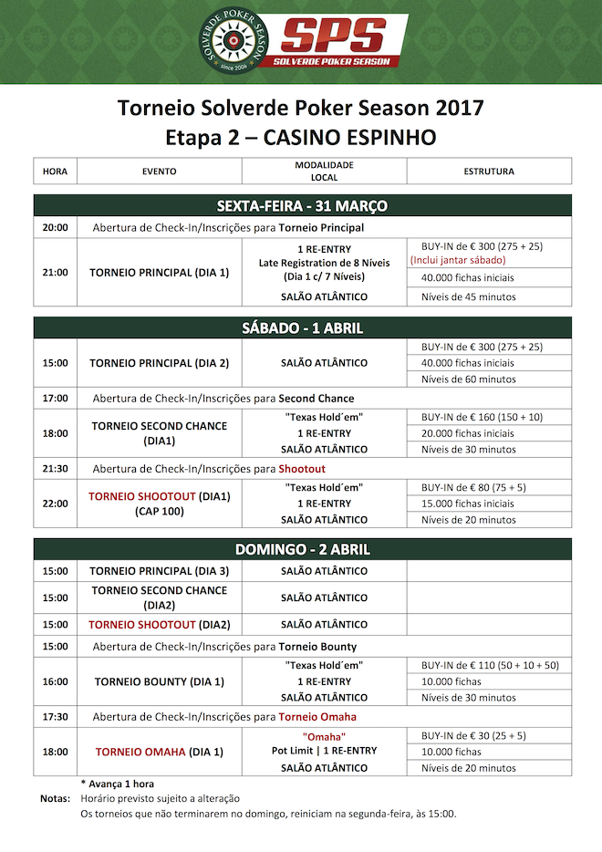 Solverde Poker Season '17: Etapa #2 com Data Alterada (31 Março, 1 e 2 de Abril) 102