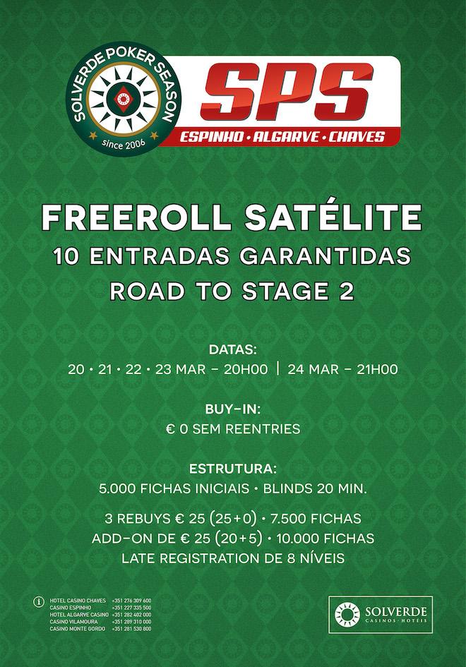 Road To Stage 2: Freeroll Satélite com 10 Entradas Garantidas de 20 a 24 Março no Casino... 101