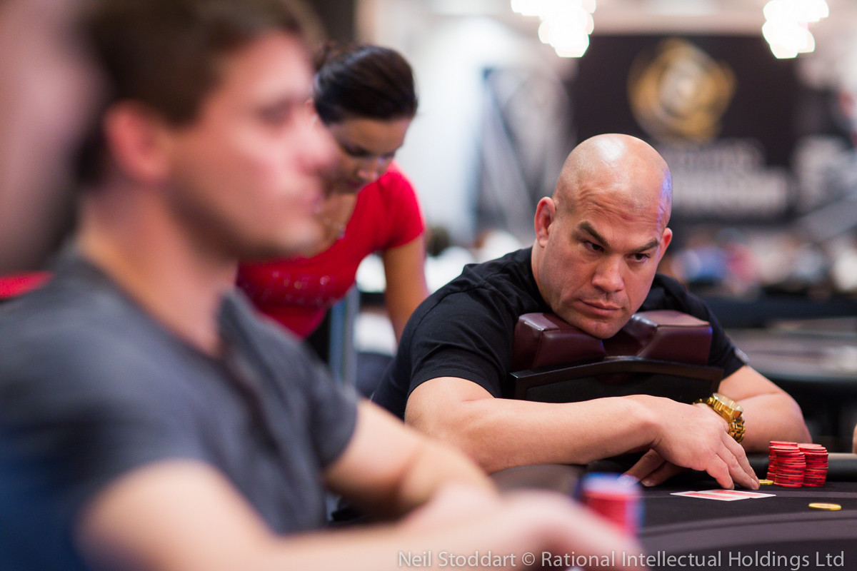 Tito Ortiz notched his first-ever tournament poker cash