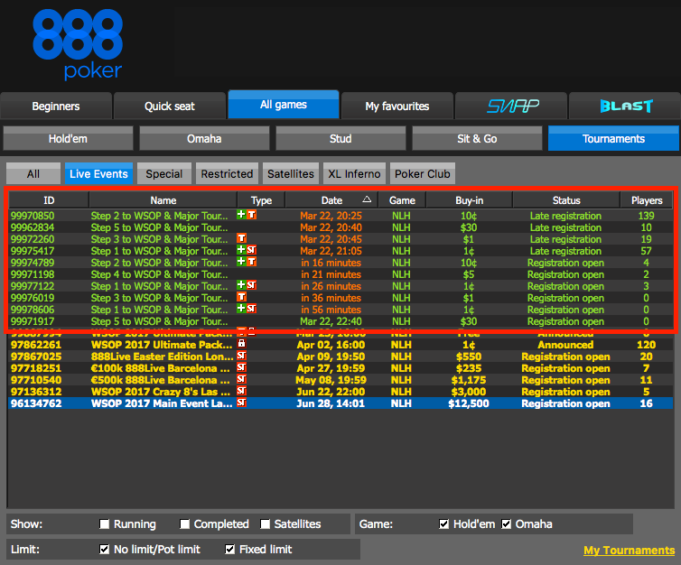 How to Qualify for the WSOP Through 888poker 103