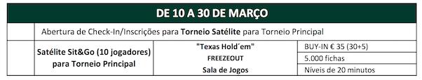Solverde Poker Season '17: Satélite €55 Freezeout Hoje às 20:00 no Casino Espinho 102