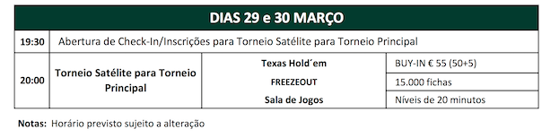 Solverde Poker Season '17: Satélite €55 Freezeout Hoje às 20:00 no Casino Espinho 101