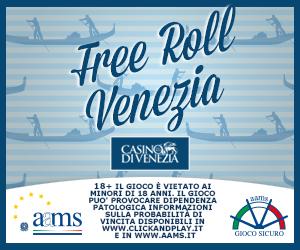 Tutti i freeroll del Casinò di Venezia online!