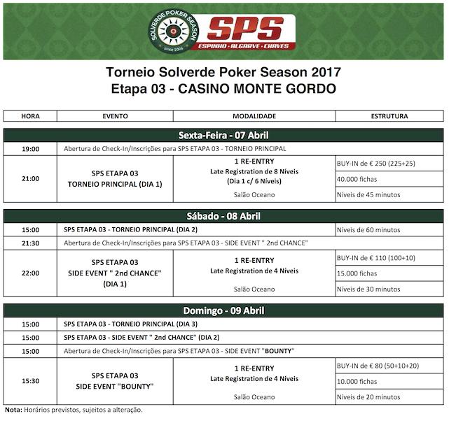 Etapa #3 do Solverde Poker Season Arranca Hoje (07 Abr) às 21:00 em Monte Gordo 101