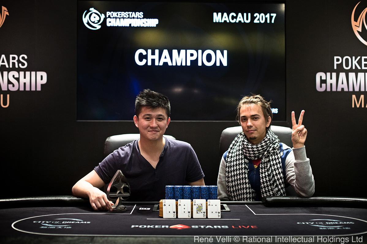Ganador del Evento 31 PLO High Roller_Ka Kwan Lau_Runner Up_Maksim Shuts