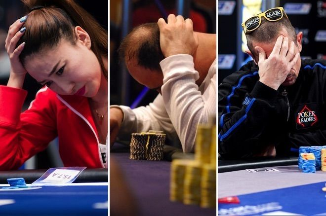 Poker players under pressure