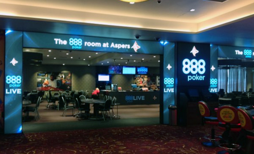 888Poker Room at Aspers