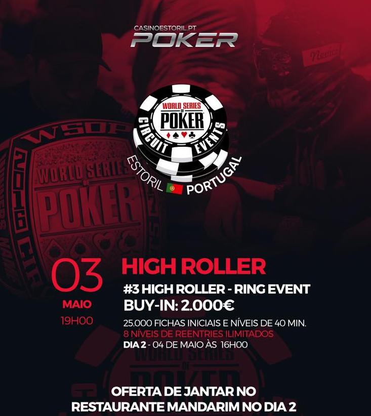 WSOPC Estoril: Evento #3 High Roller, um dos Anéis Mais Apetecíveis 101