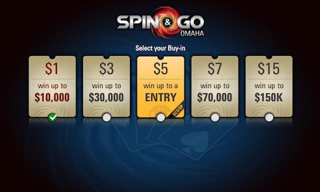 "PokerStars ""Spin & Go"" turnyrai - jau ir ""Omaha"" formatu 101"
