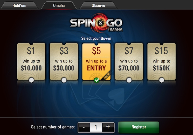 Looking for Action and Edges in PokerStars' Pot-Limit Omaha Spin & Gos 101
