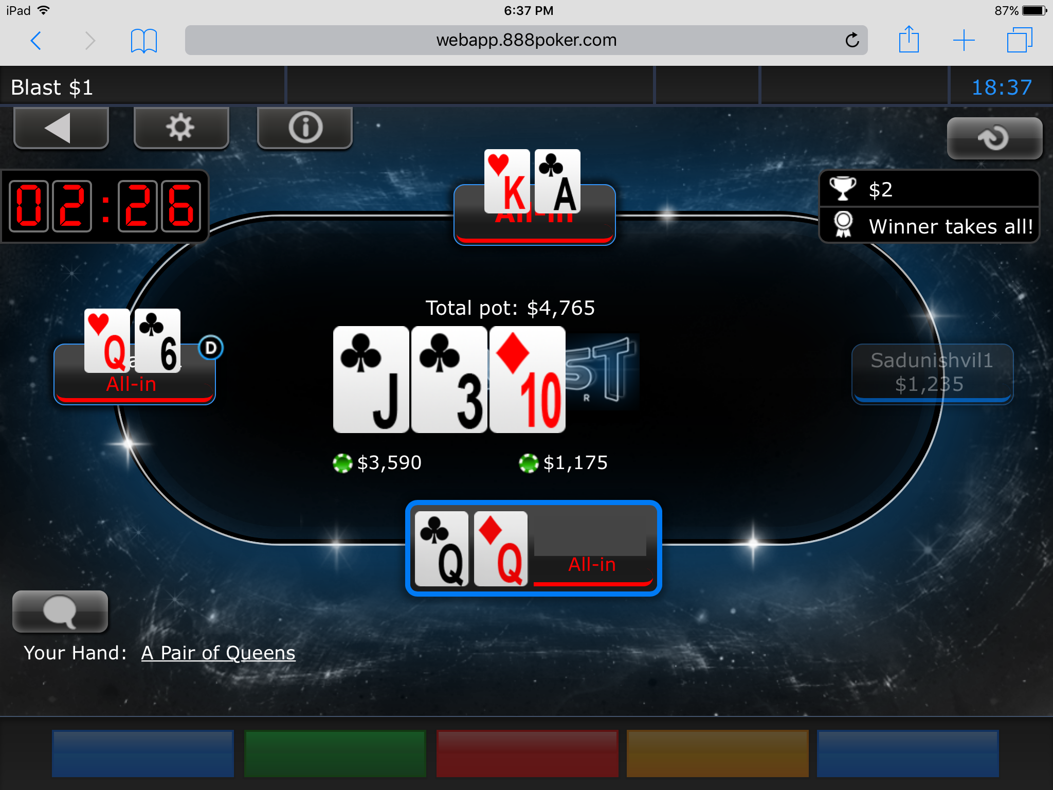 How To Play Poker On the Go with 888poker's App 113