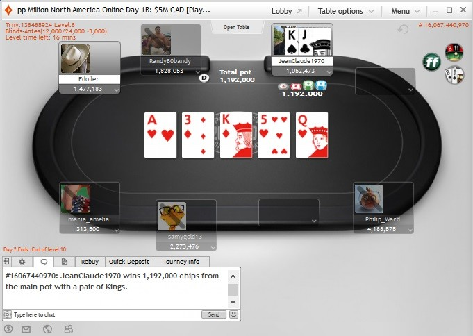 'Philip_Ward' Leads Online Day 1b partypoker MILLION North America 101