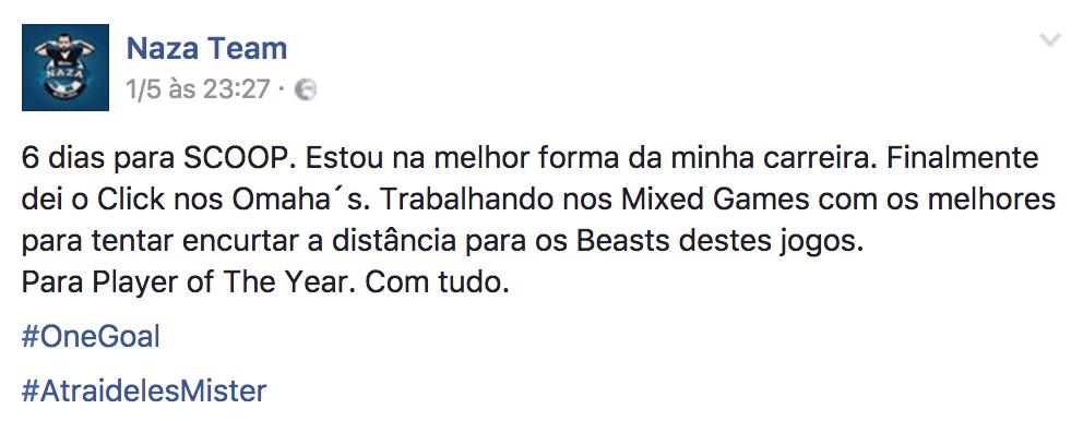 """João """"Naza114"""" Vieira Lidera POY SCOOP Medium e Overall 101"""